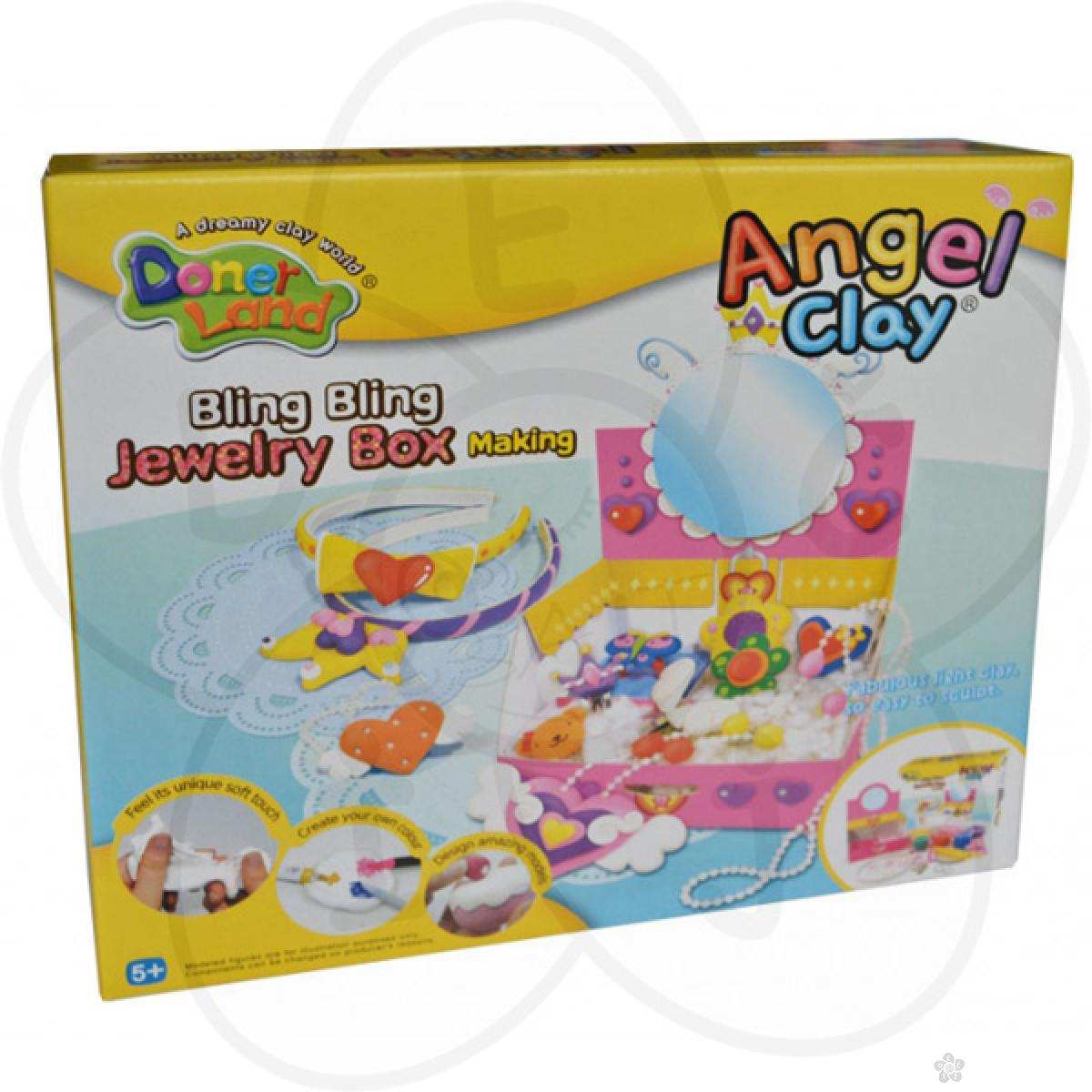 Igračke Angel Clay masa za oblikovanje - Kutija za nakit