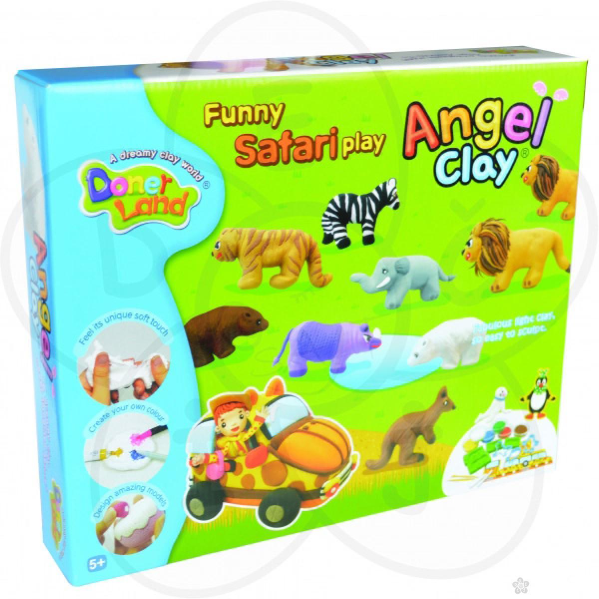 Igračke Angel Clay masa za oblikovanje Safari