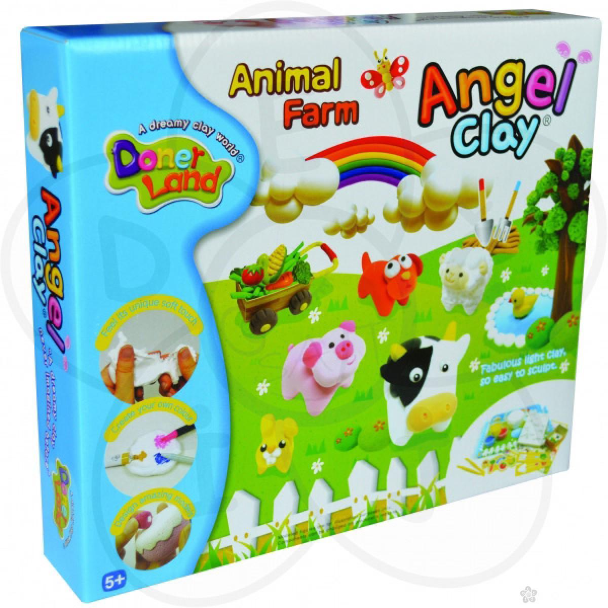 Igračke Angel Clay masa za oblikovanje Životinjska farma