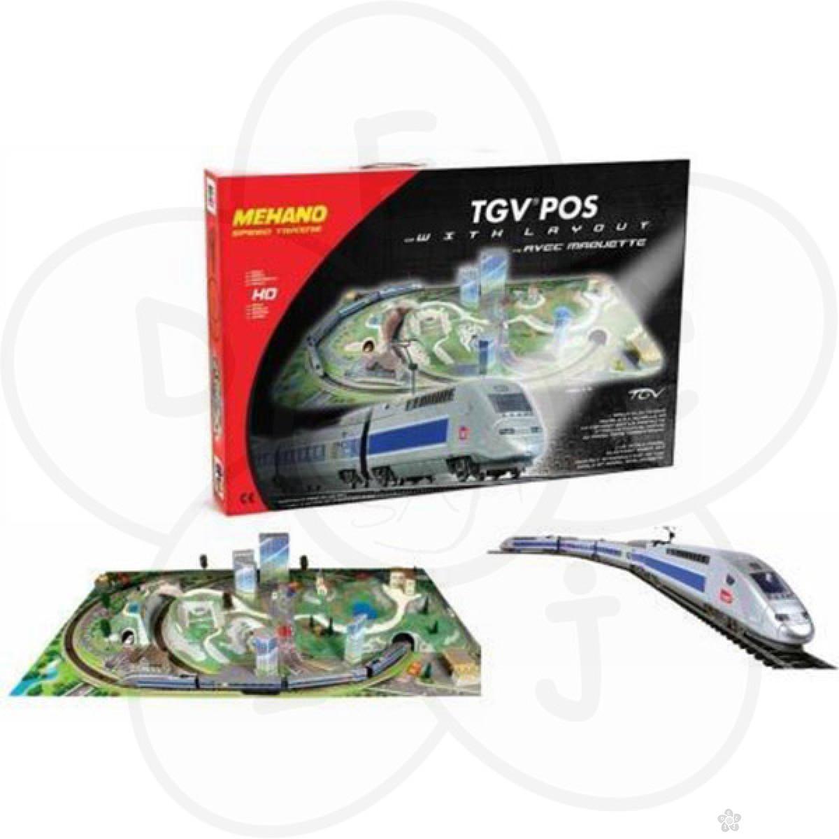 Mehano voz na električni pogon TGV POS + maketa