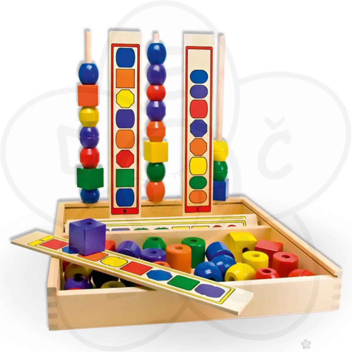 Set logički nizovi u drvenoj kutiji 50570