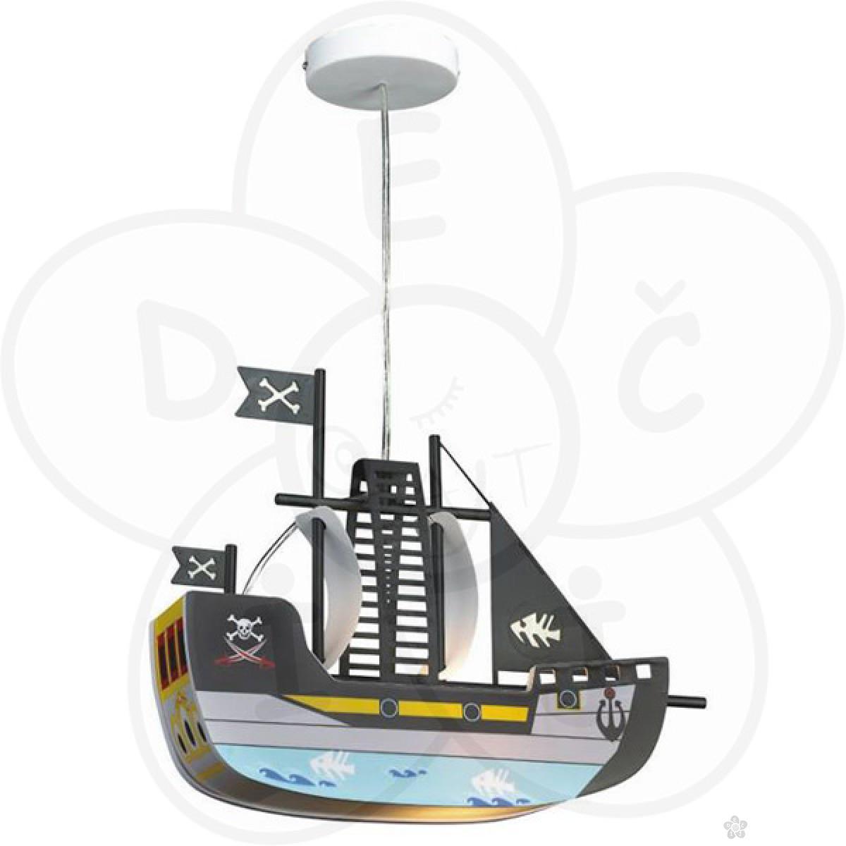 Visilica brod, svetlo plavi