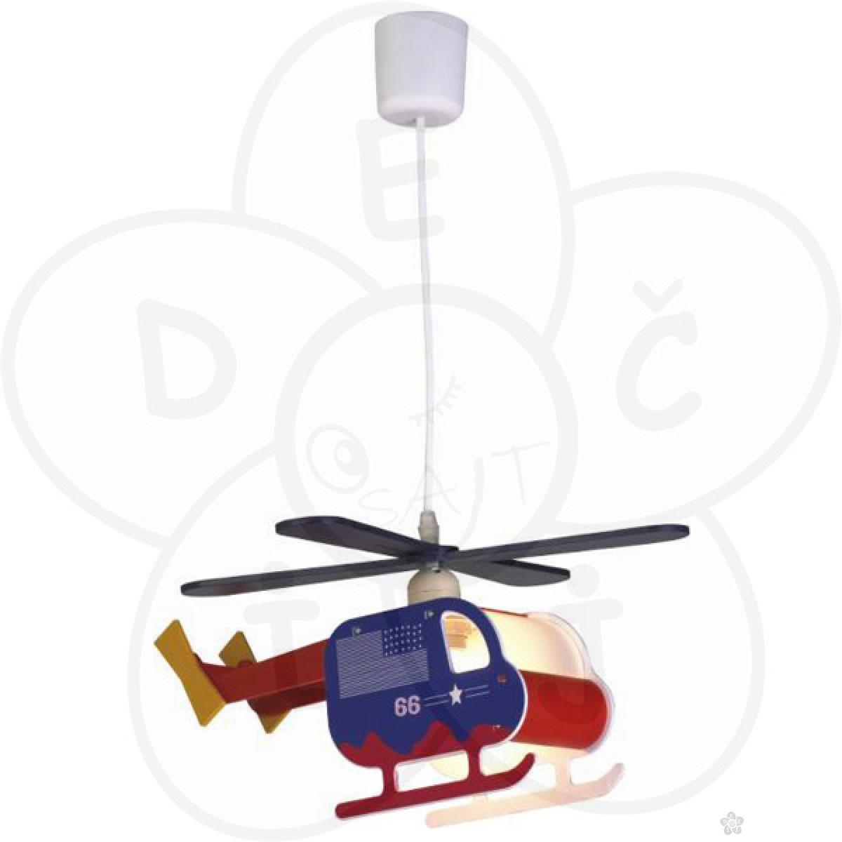 Visilica helikopter, plavo-crvena
