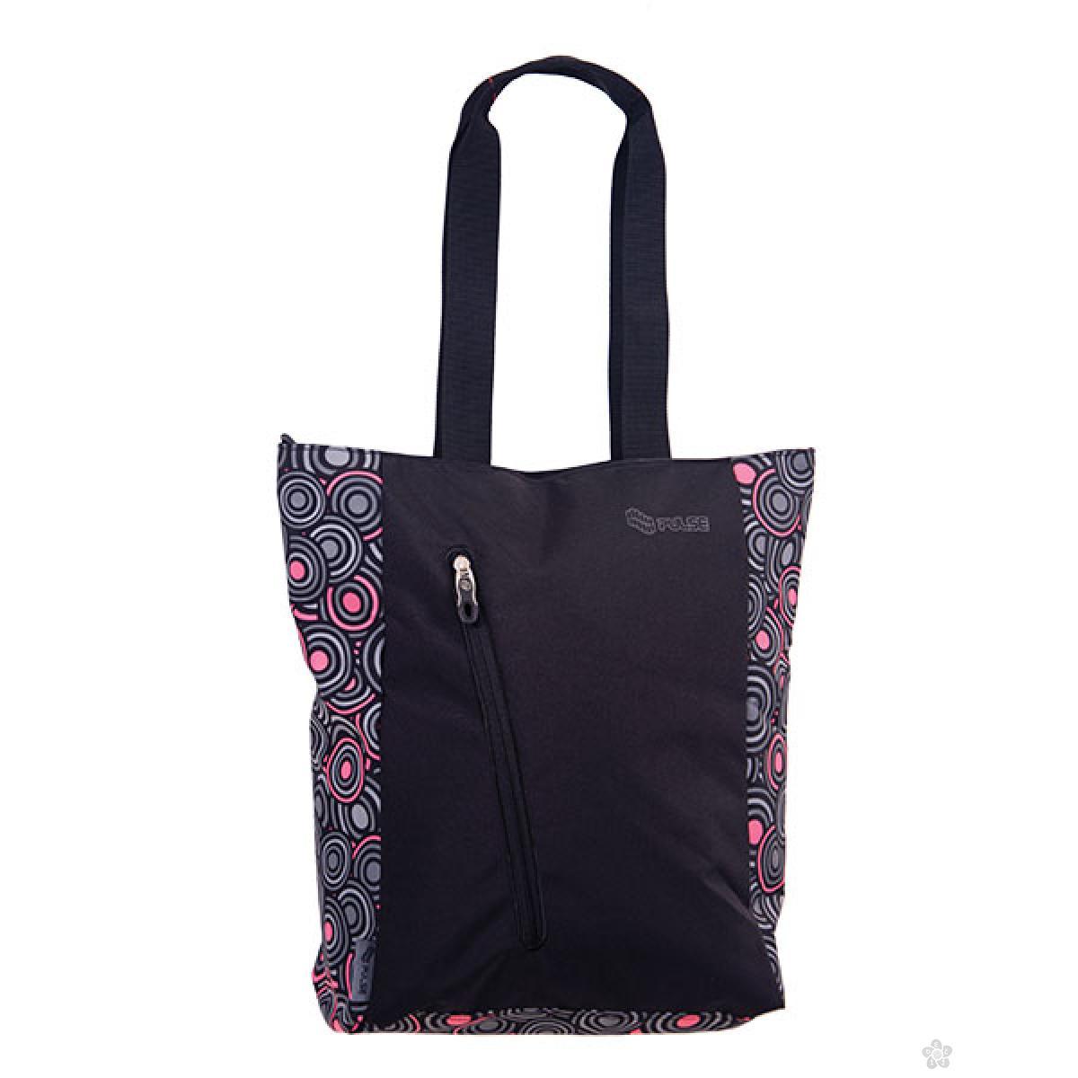 Shopping bag Music Pink Circles