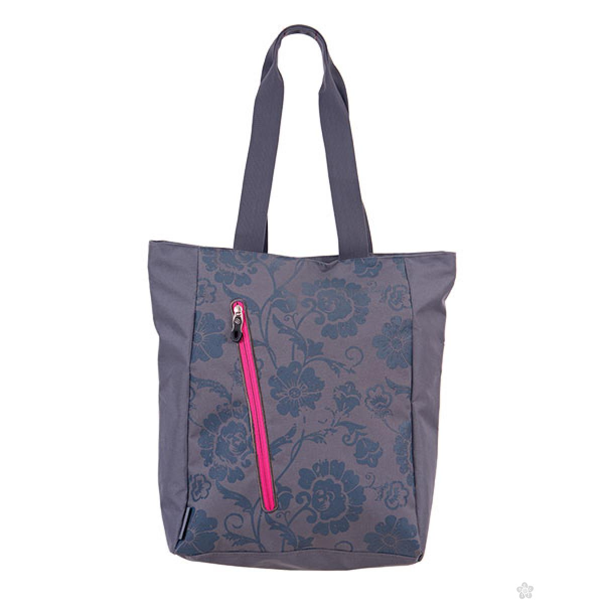 Shopping bag Cots Gray Flower