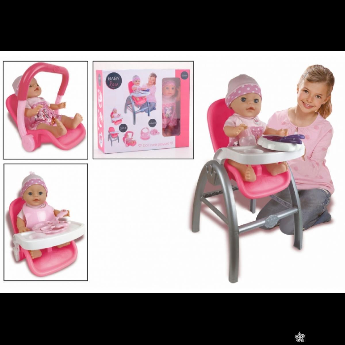 Stolica za lutke 3 u 1 Baby Rose  39721