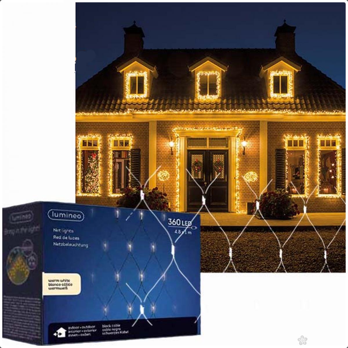 Spoljašnja novogdišnja LED svetleća mreža 100x480cm