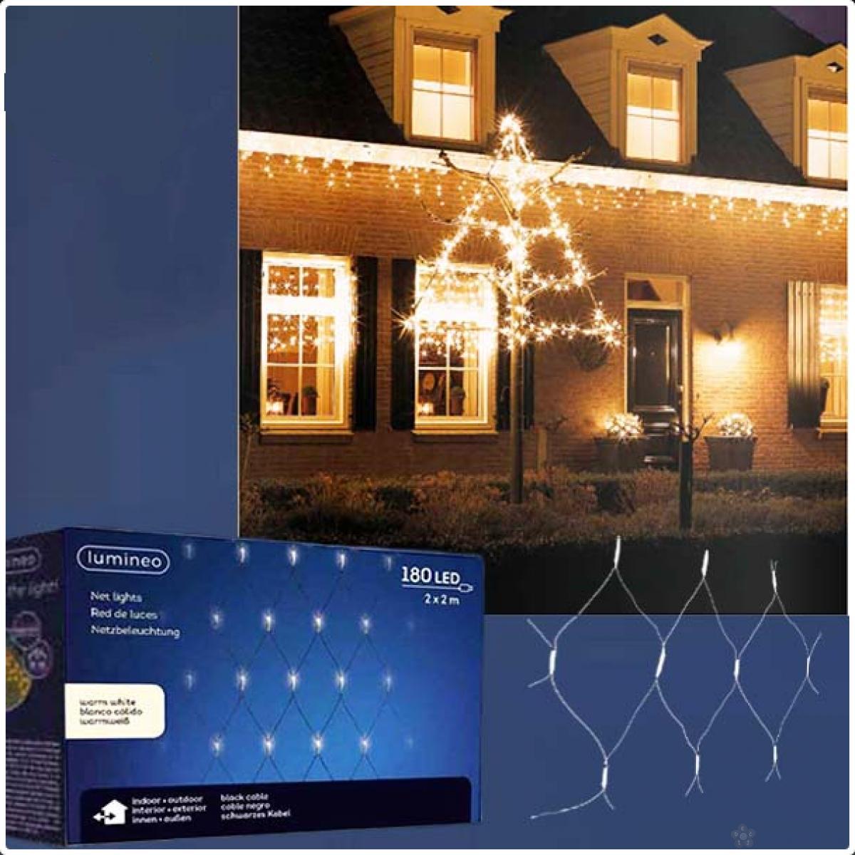 Spoljašnja novogodišnja LED svetleća mreža 200x200cm