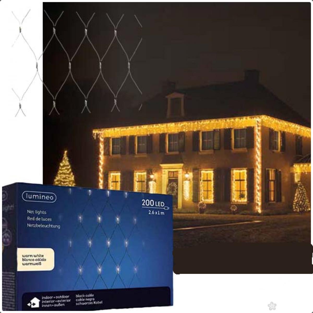 Spoljašnja novogodišnja LED svetleća mreža 100x260cm