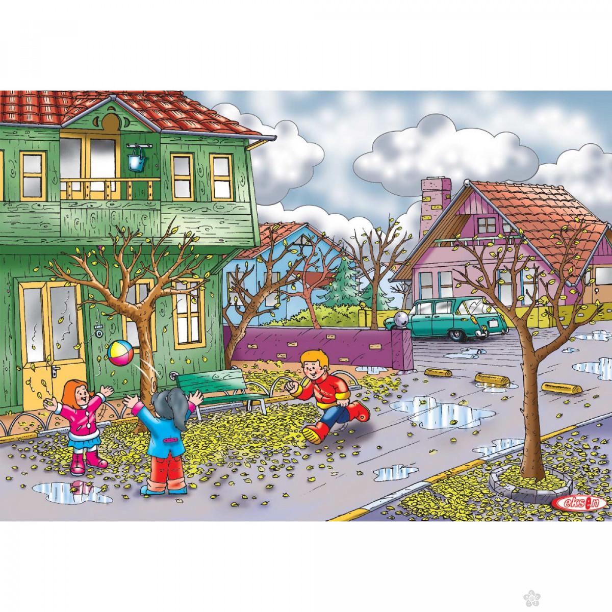 Drvene puzzle Jesen