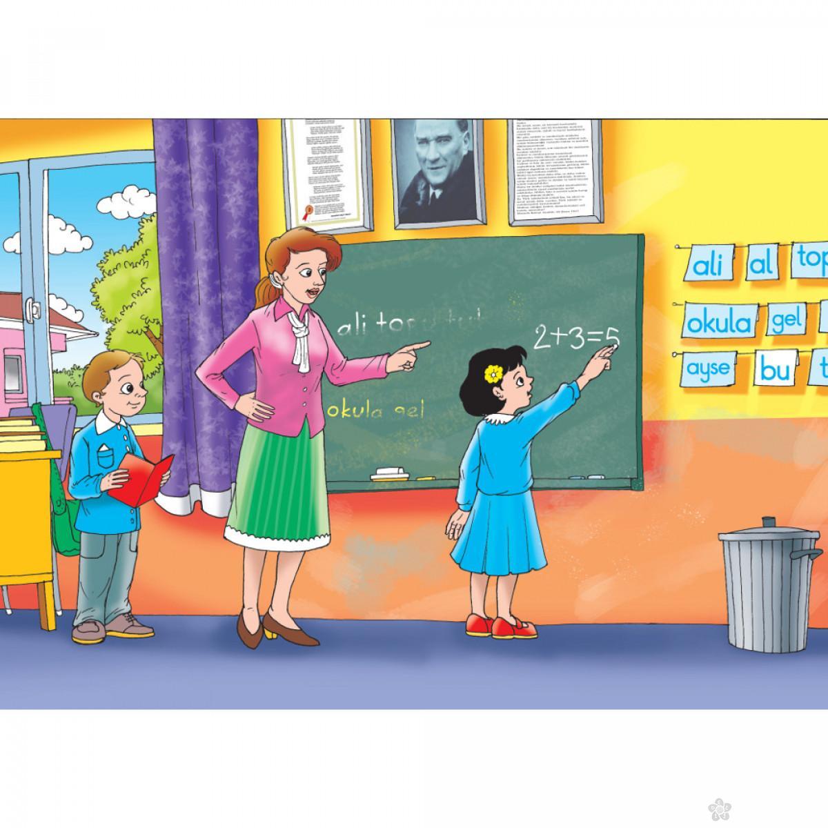 Drvene puzzle U školi