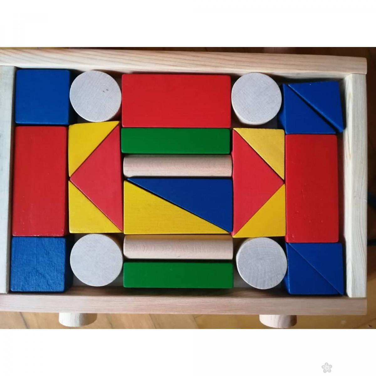 Drveni blokovi-kolica Eksen EK-BA05