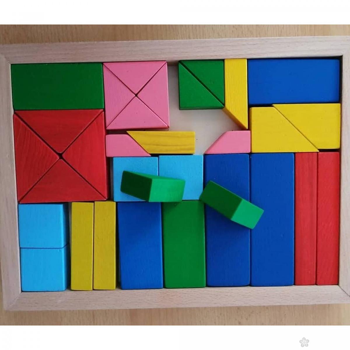 Drveni blokovi u boji Eksen EK-BA23