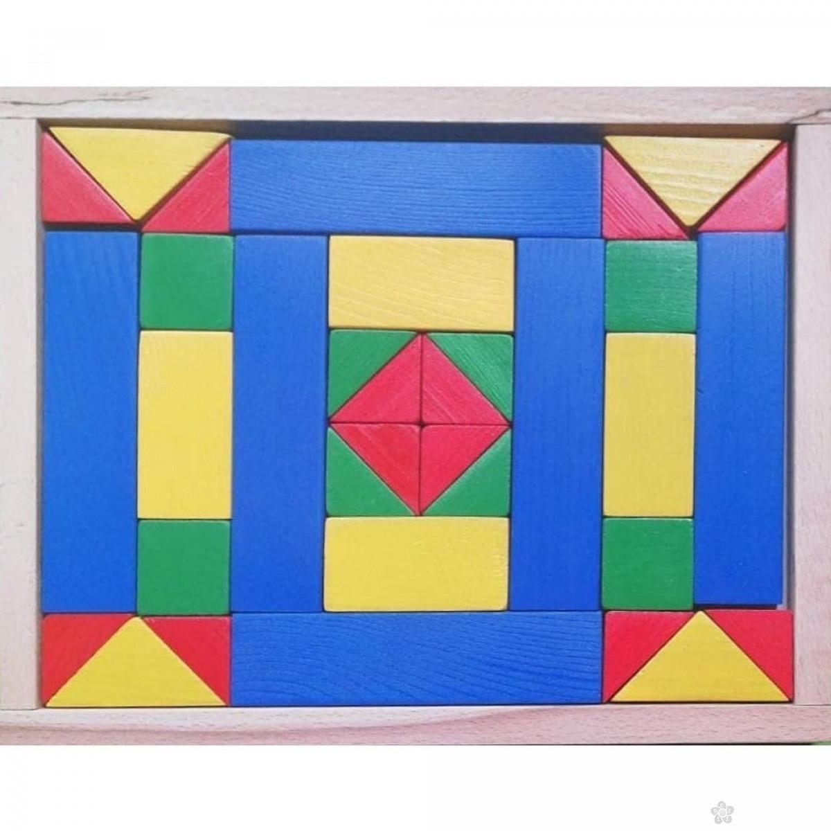 Drveni blokovi u boji Eksen EK-BA24