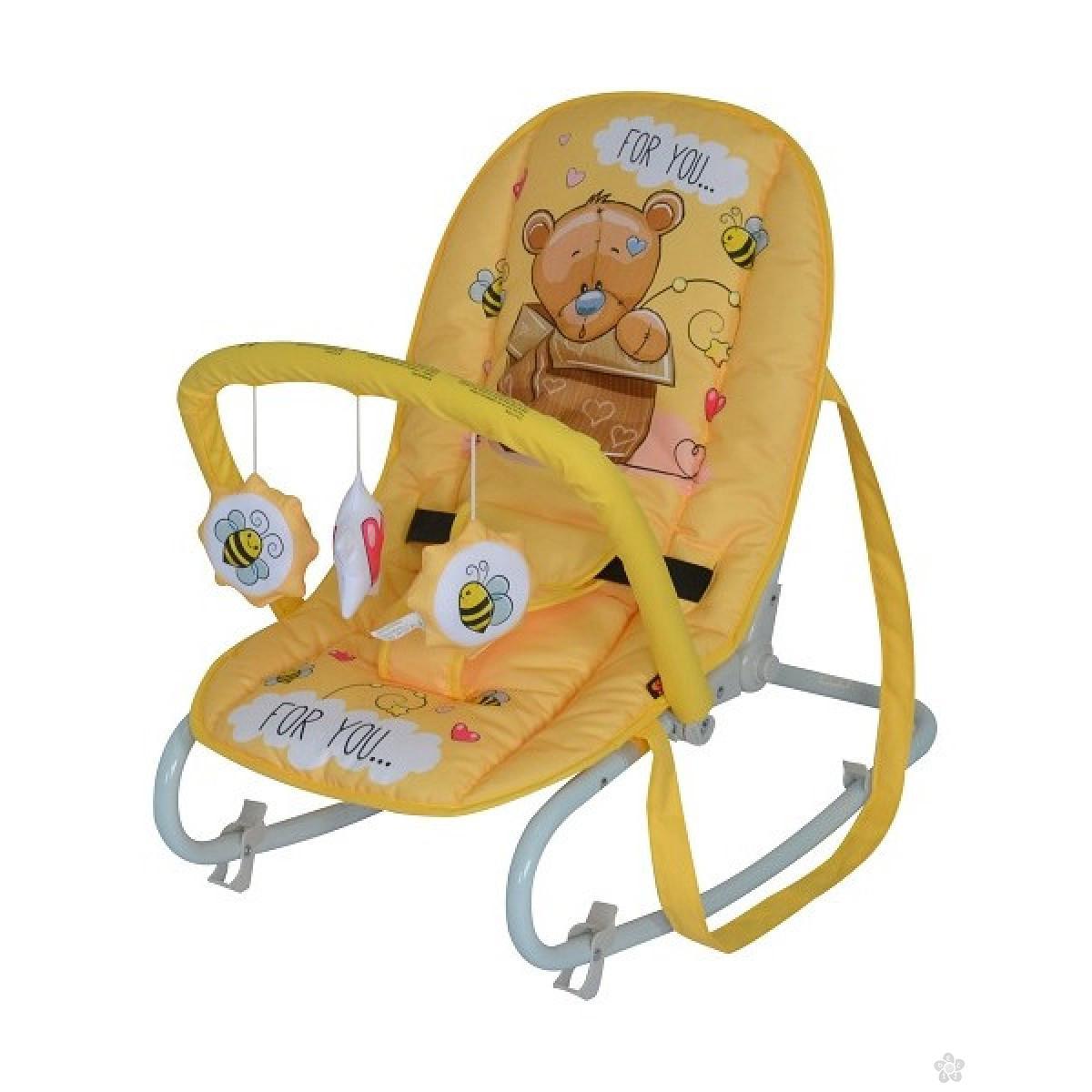 Ležaljka Top Relax Yellow Bear 10110021919