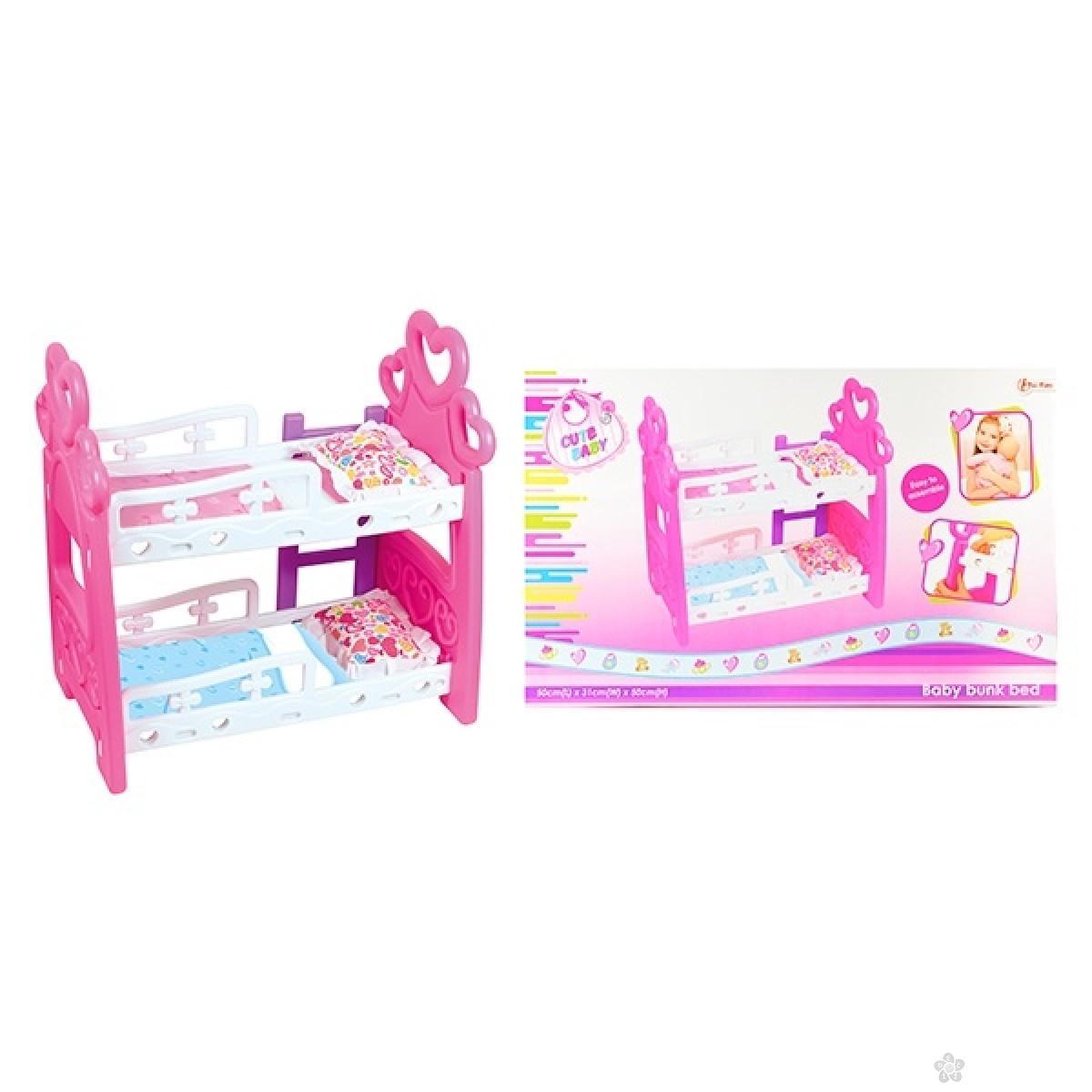 Krevetac za lutke na sprat Cute Baby 08010A
