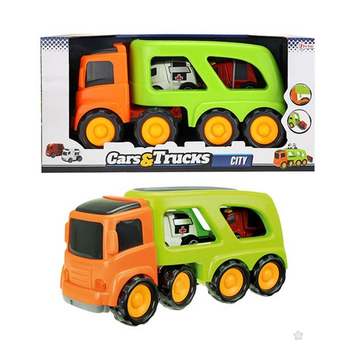 Kamion CARS&TRUCKS sa vozilima za hitnu intervenciju 72742A