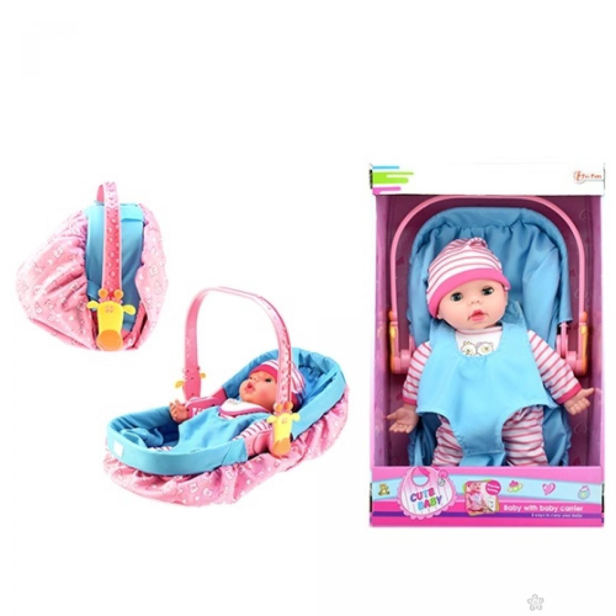 Lutka sa nosiljkom Cute Baby 02064A