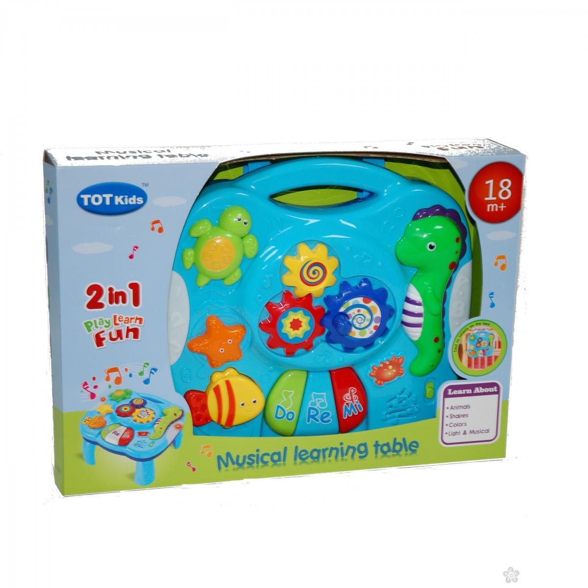 Interaktivni stočić za bebe 2 u 1  A73019