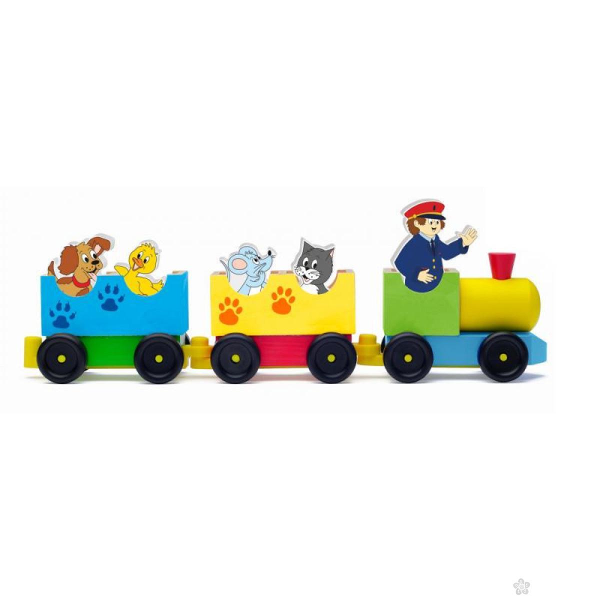 Drveni voz sa žiotinjama 90658