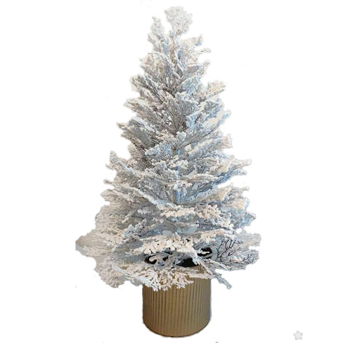 Novogodišnja  jelka snežna u saksiji 60 cm 201017