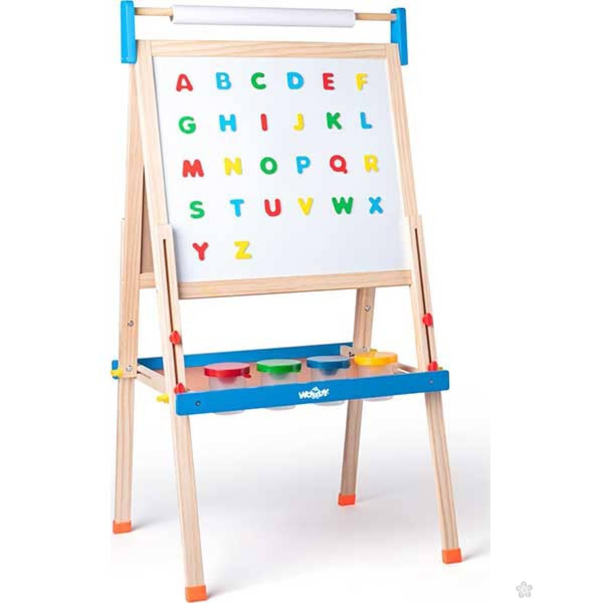 ABC tabla sa slovima -dvostrana Woody 90108