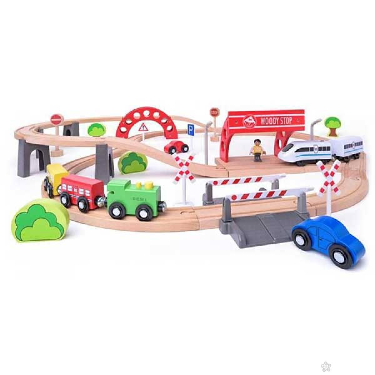 Pruga sa električnom lokomotivom Woody 93064