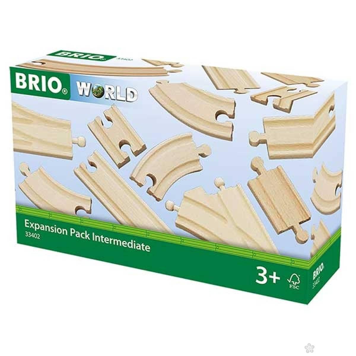 Delovi za prugu-dodatni set šina Brio BR33402