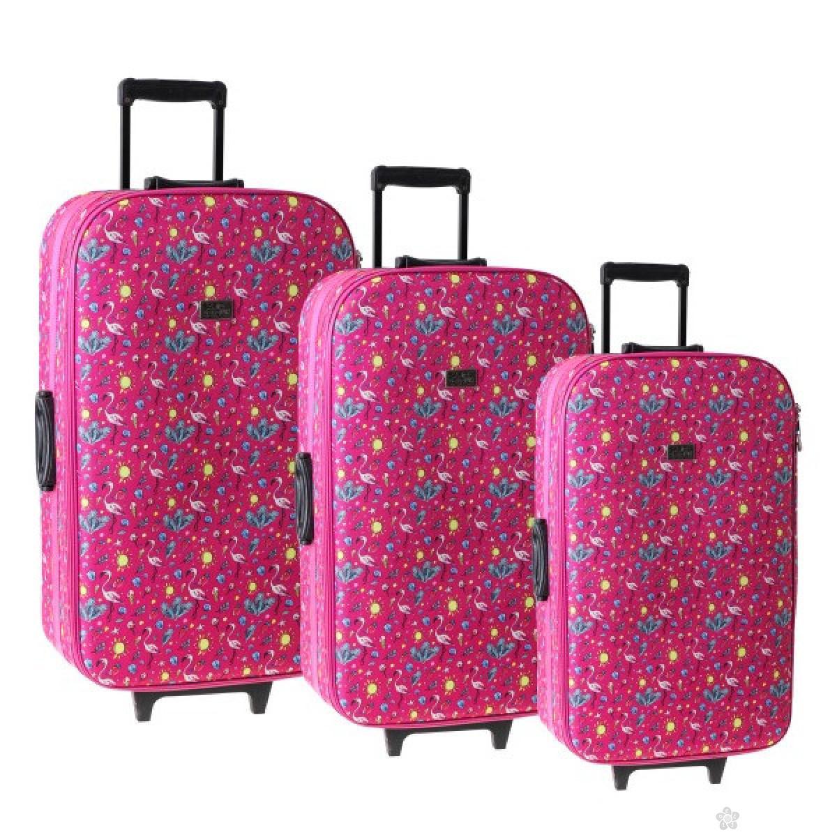 Set kofera Cairo Flamingo 100121
