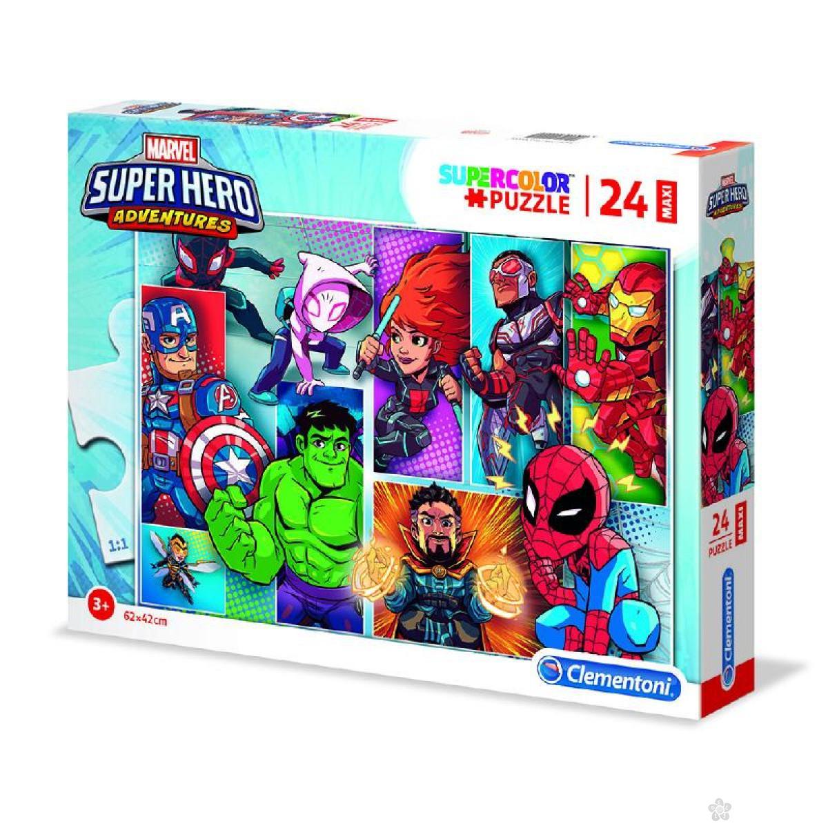 Puzzle 24  Maxi  Superhero 24208