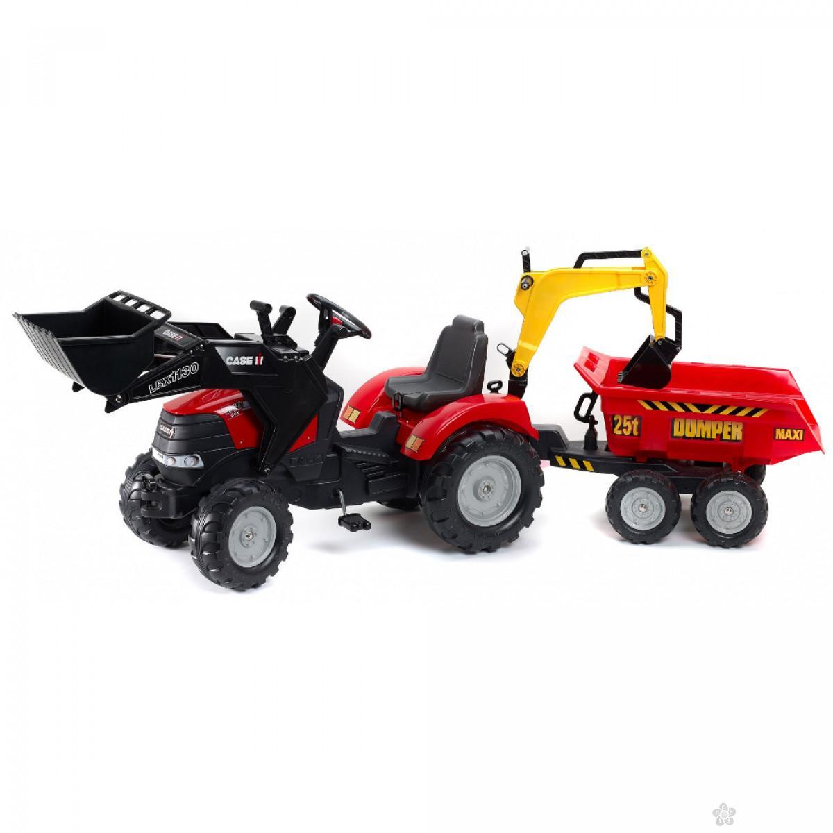 Traktor na pedale Case konstruktor 995w