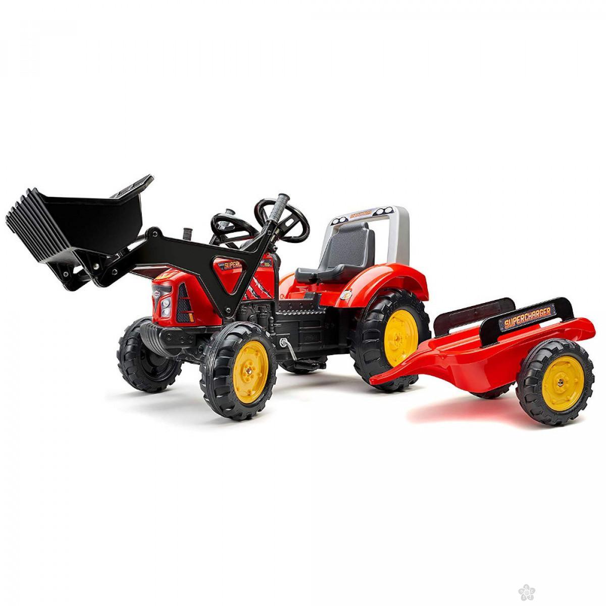Traktor na pedale Supercharger crveni 2020m