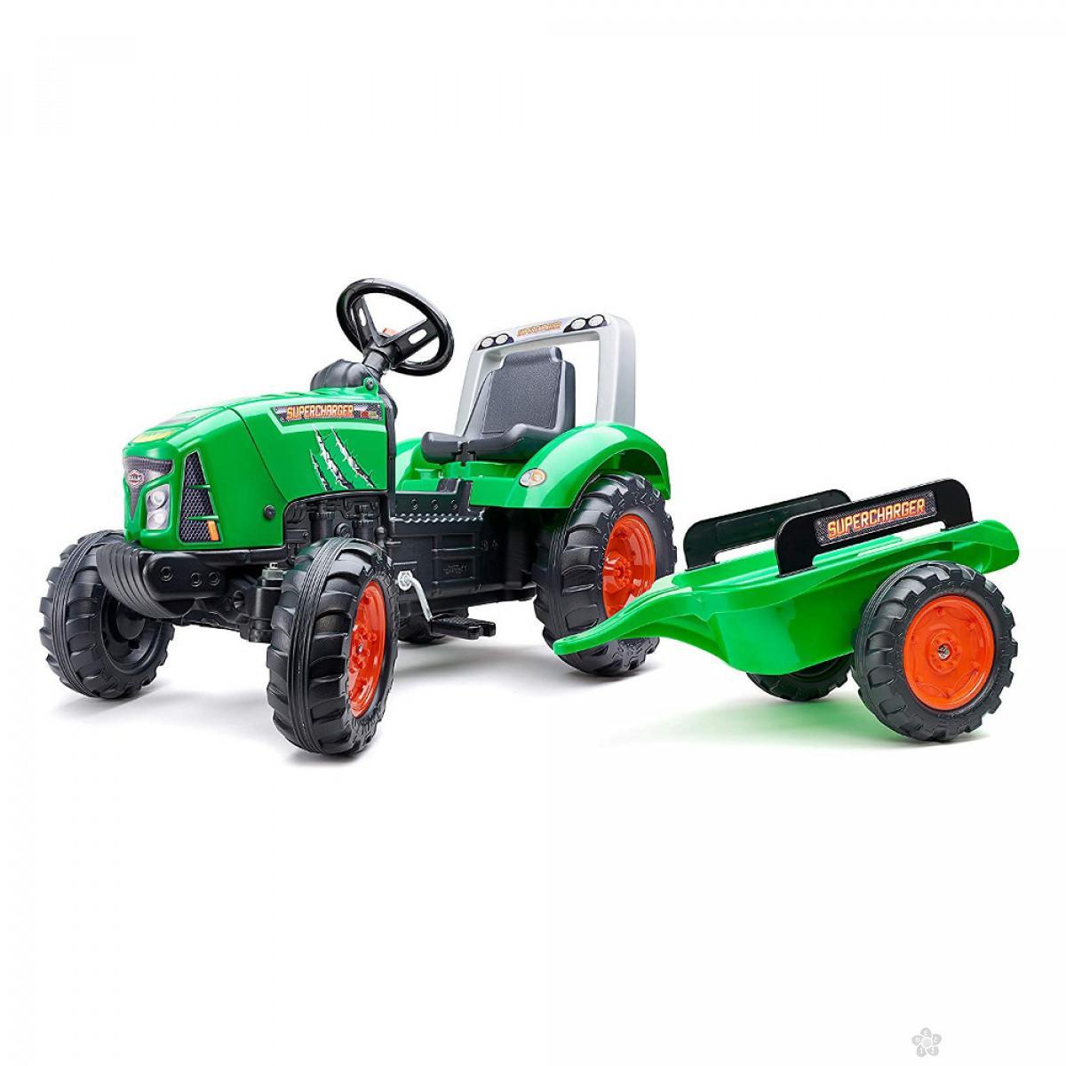 Traktor na pedale Supercharger zeleni 2021ab