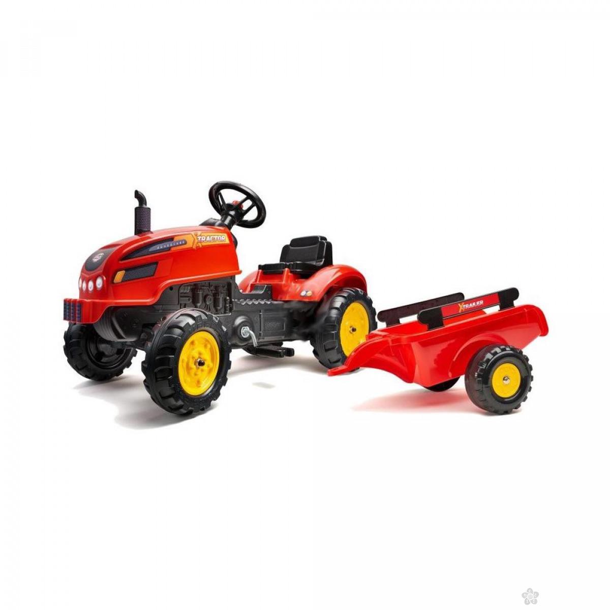 Traktor na pedale X crveni 2046ab