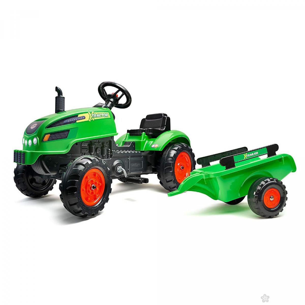 Traktor na pedale X zeleni 2048ab