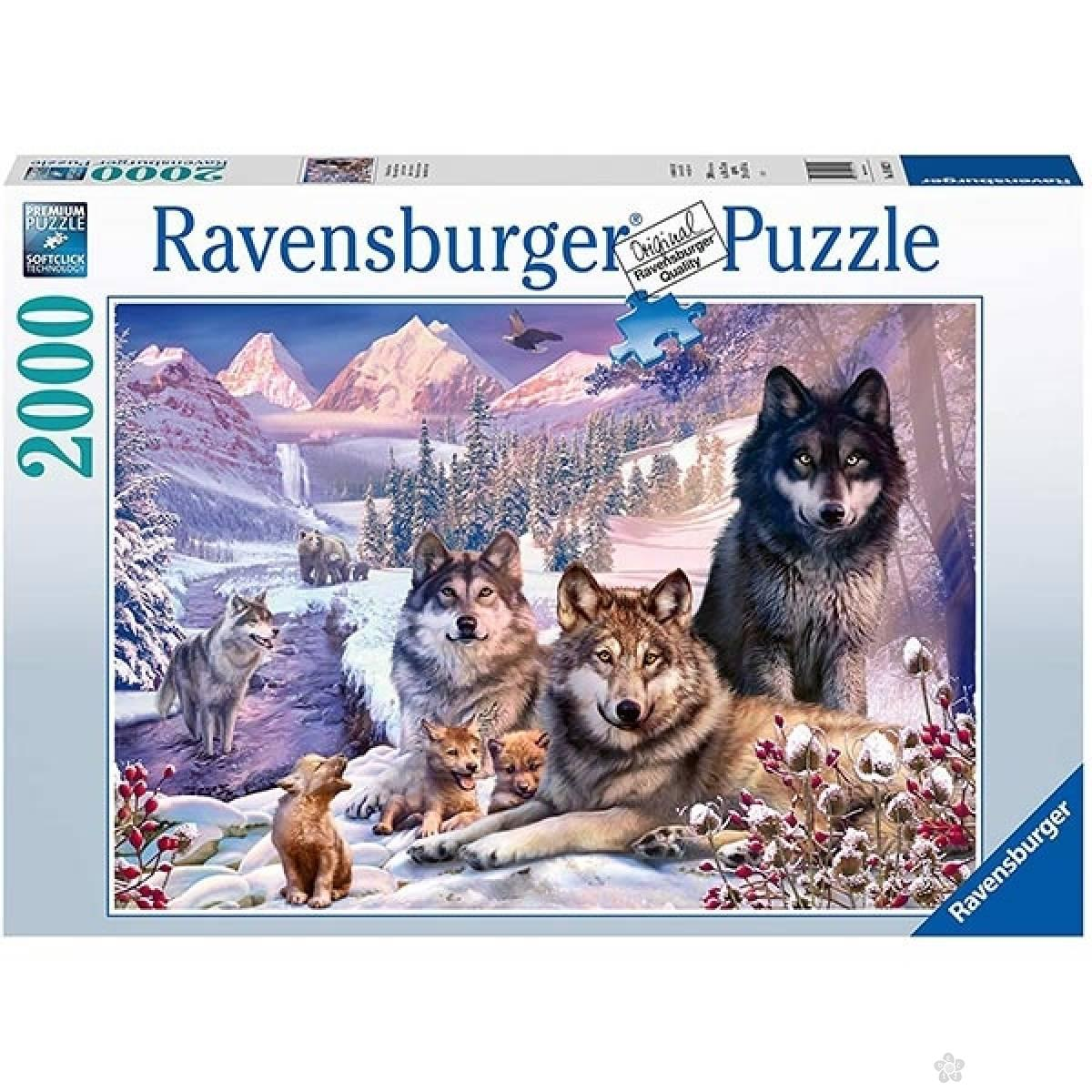 Ravensburger puzzle (slagalice) Porodica vukova RA16012