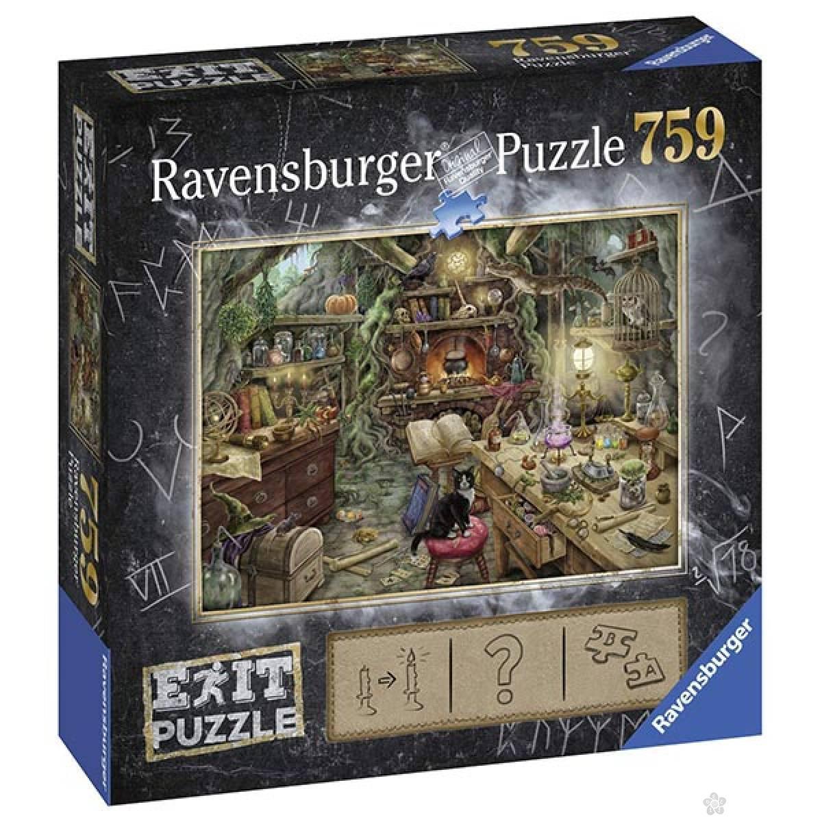 Ravensburger puzzla Exit Veštičji dom RA19952