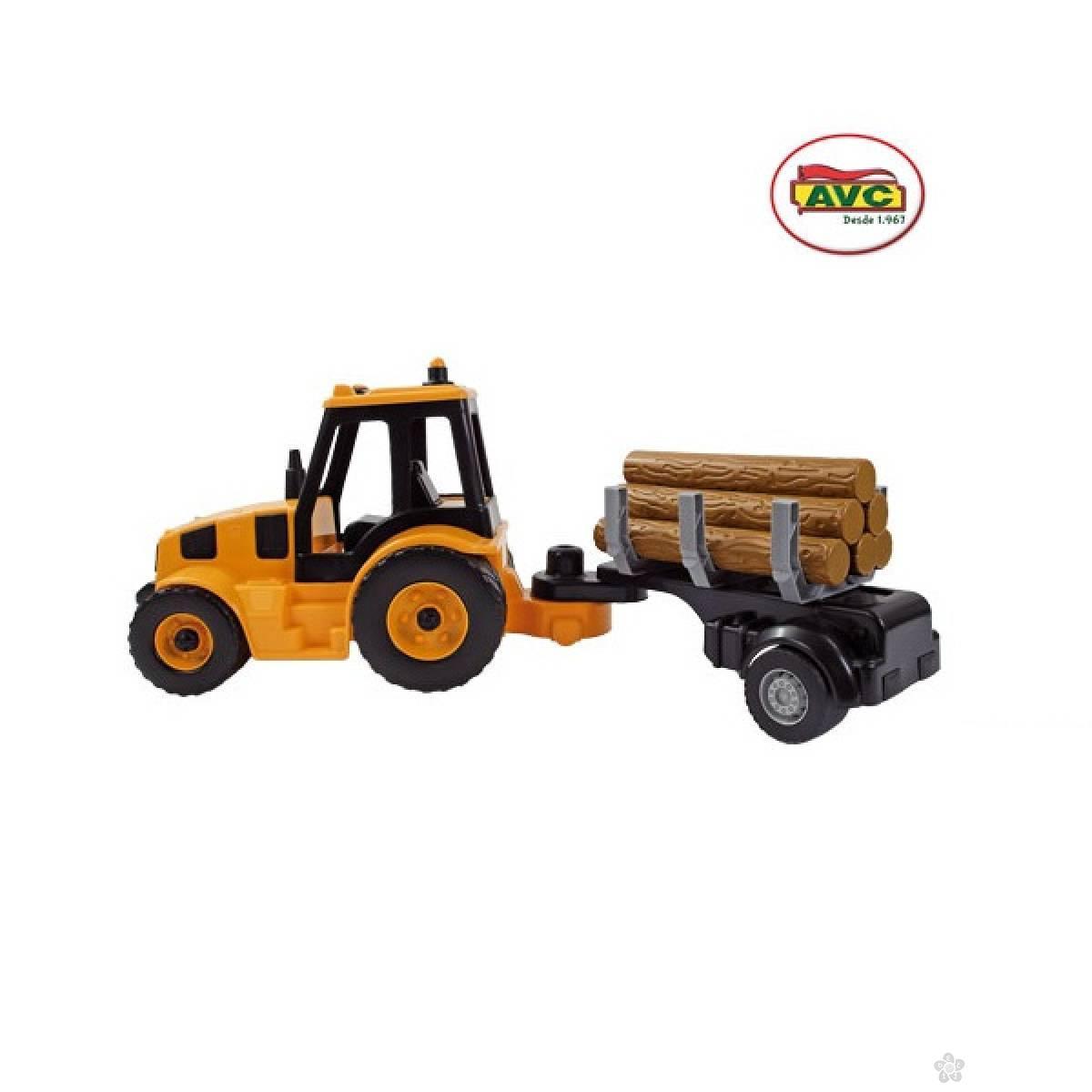 Traktor sa drvima 5365