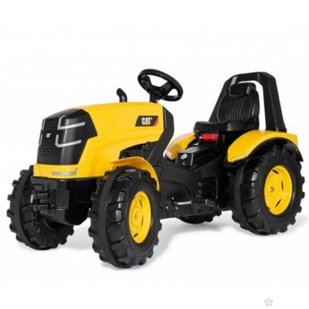 Traktor na pedale  CAT Premium PowerStripe X-Trac 640096