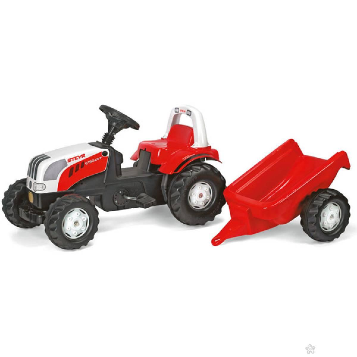 Traktor na pedale sa prikolicom Steyr Rollykid 012510