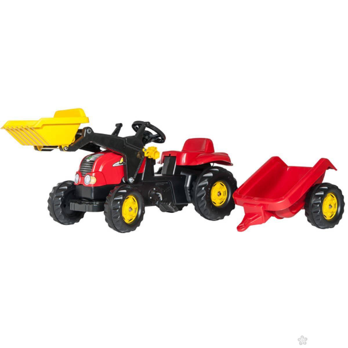 Traktor na pedale Utovarivač sa prikolicom 023127