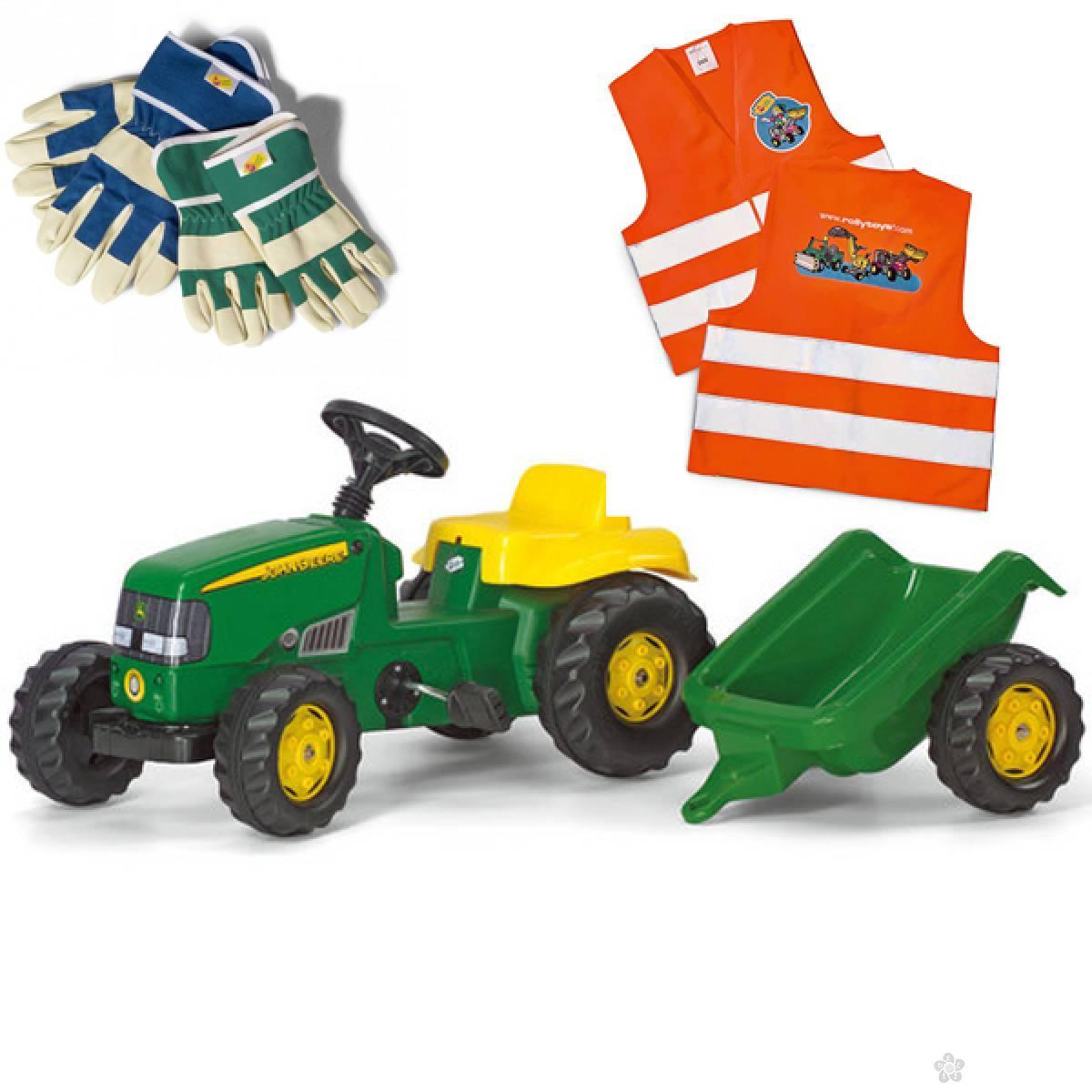 Traktor Rolly kid John Deere i prikolica 012190