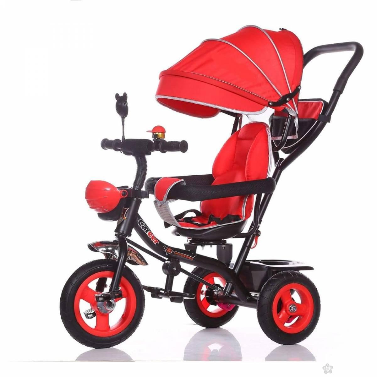 Tricikl sa korpom i tendom BYT066-9, crveni