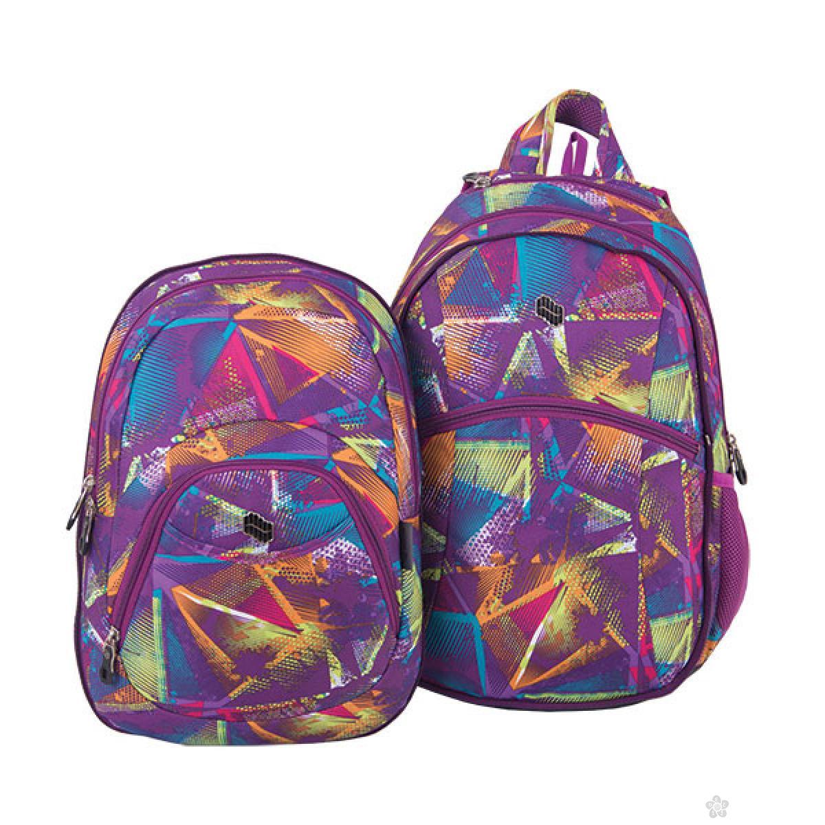 Ranac 2 u 1 Teens Purple Laser