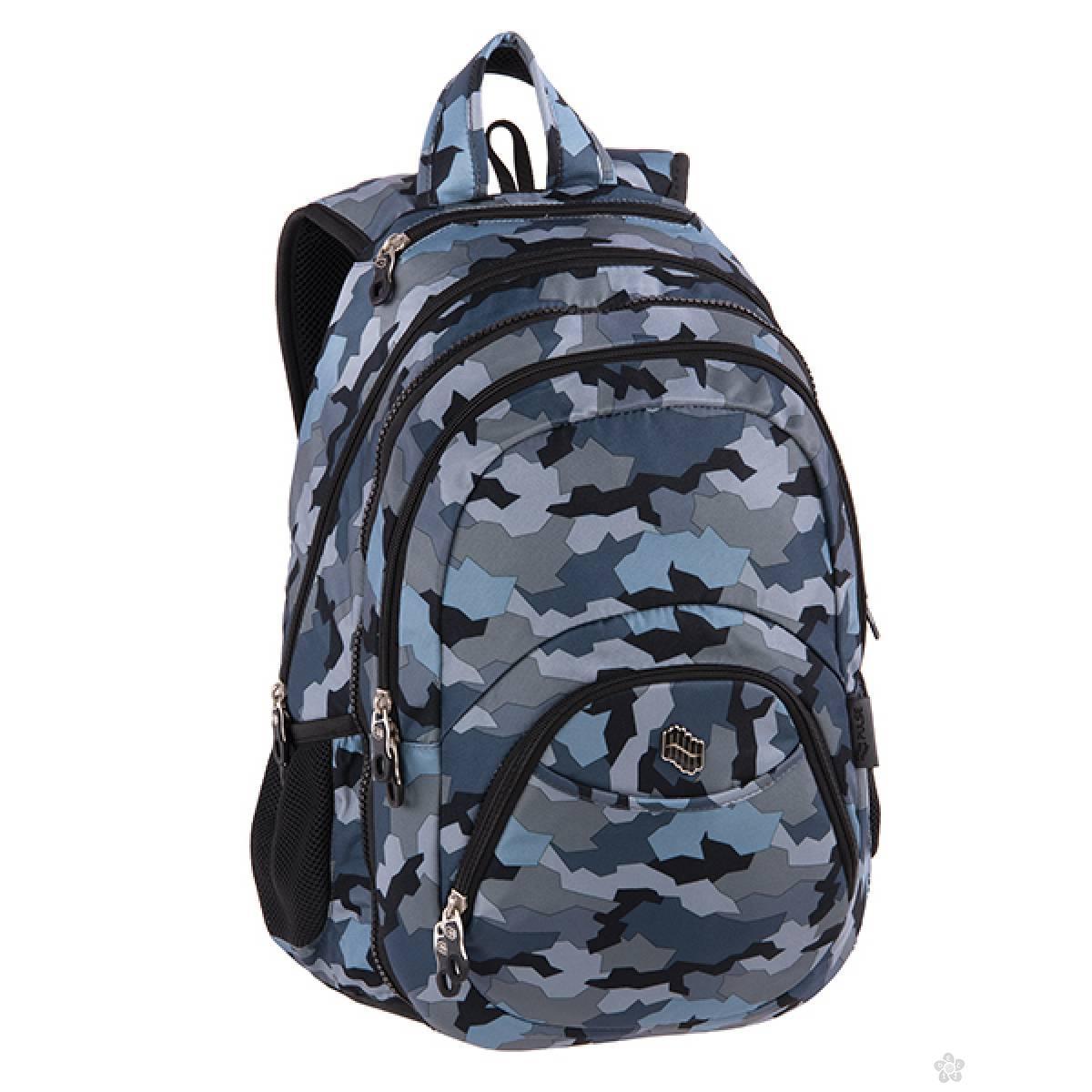 Ranac 2 u 1 Teens Gray Army 121797