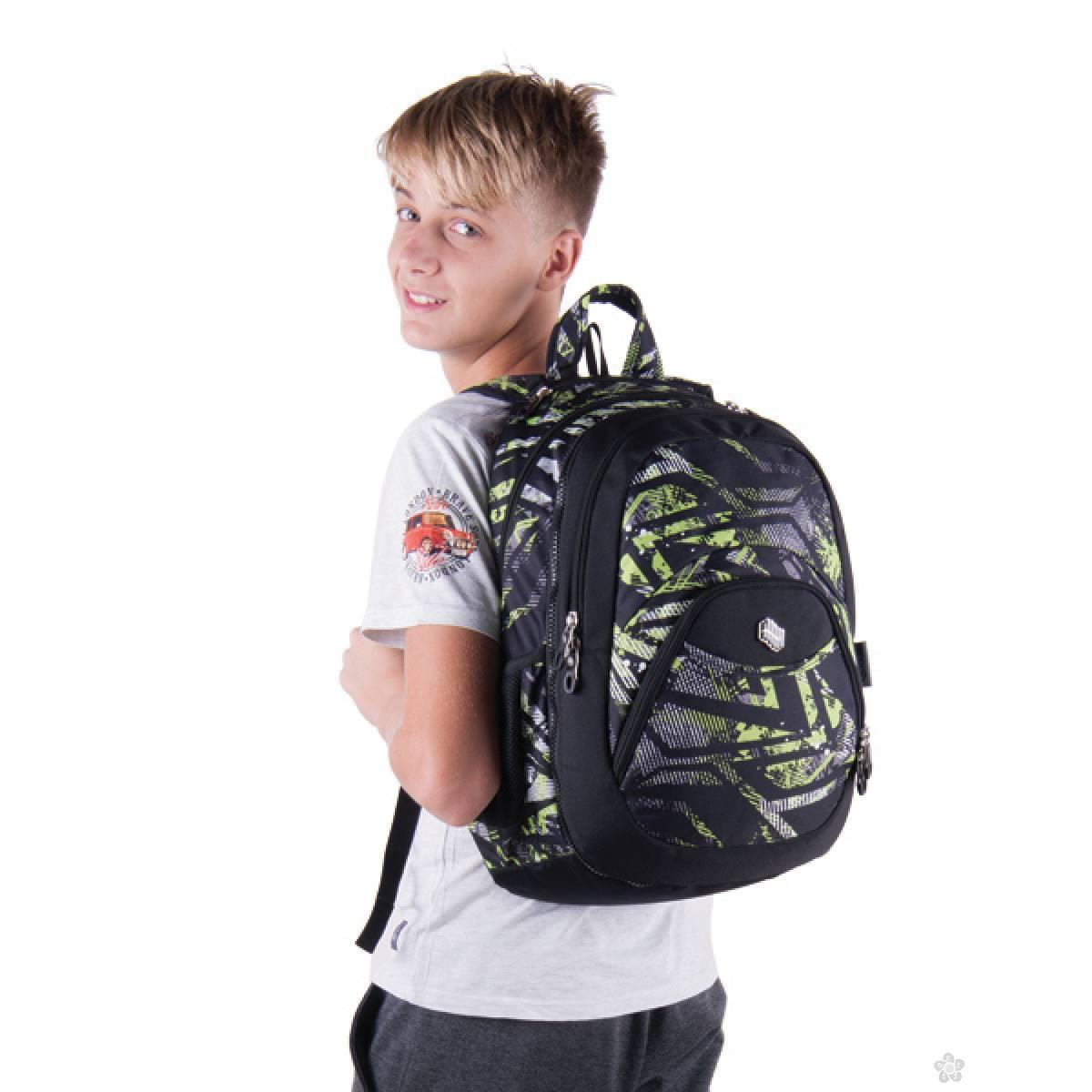 Ranac 2 u 1 Teens Green Riddle 121543