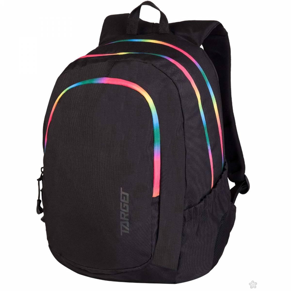 Ranac 3zip Duel Black Rainbow 26642