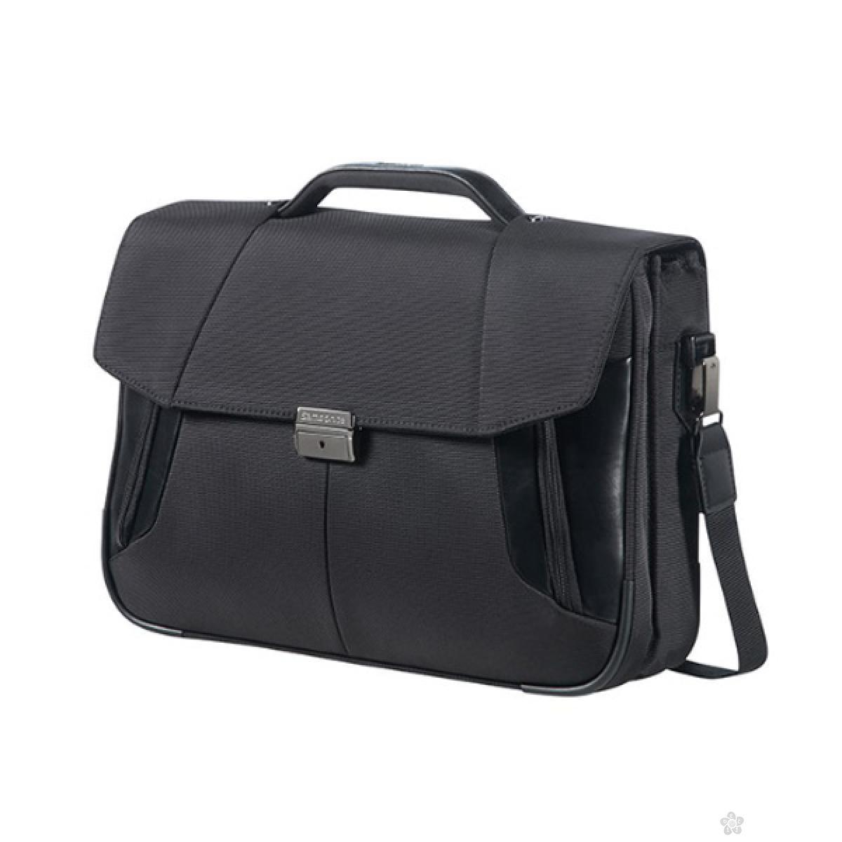 Samsonite poslovna torba BRIEFCASE 2 GUSSETS 15.6 CRNA