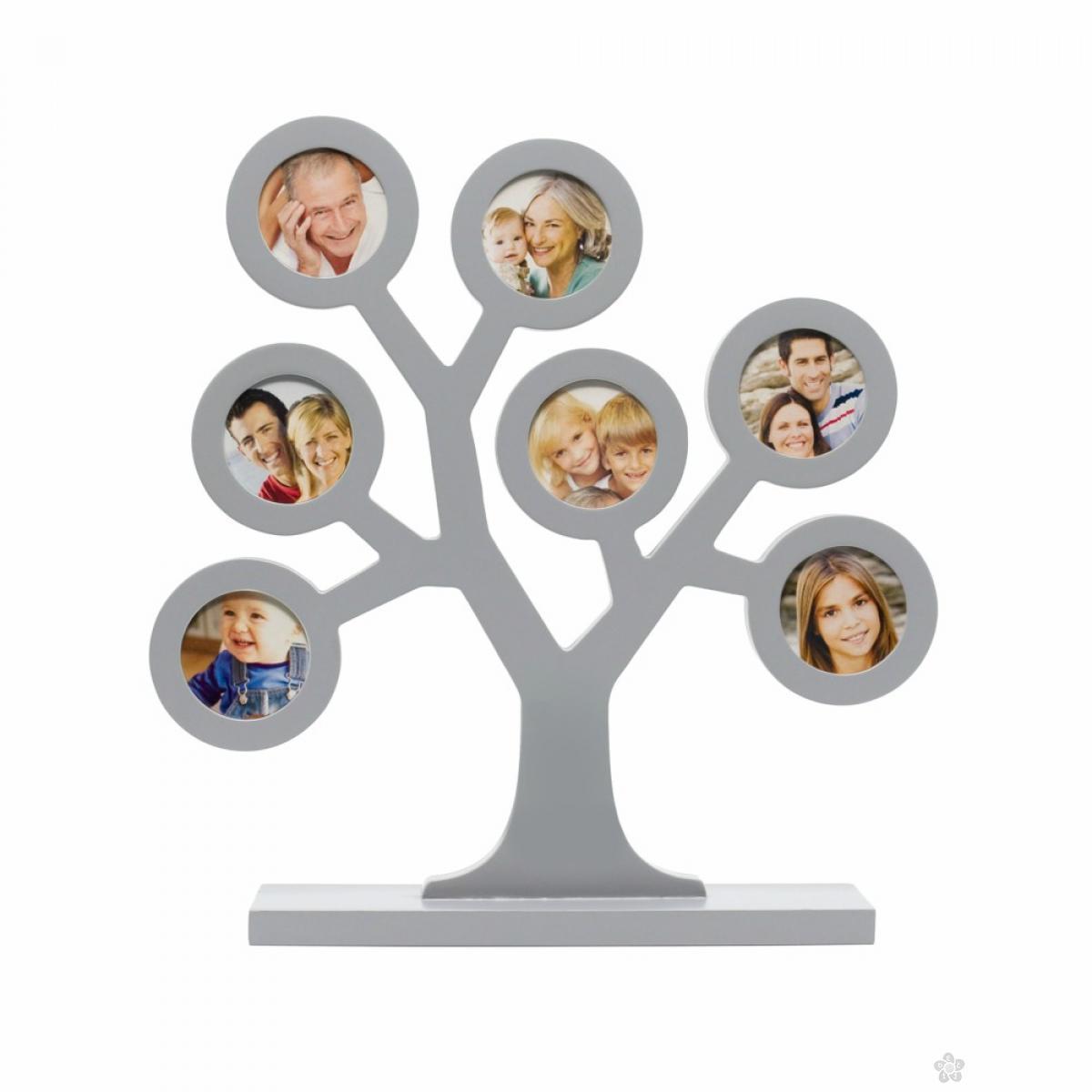 Ram za slike Familly Tree, Sivi P62112