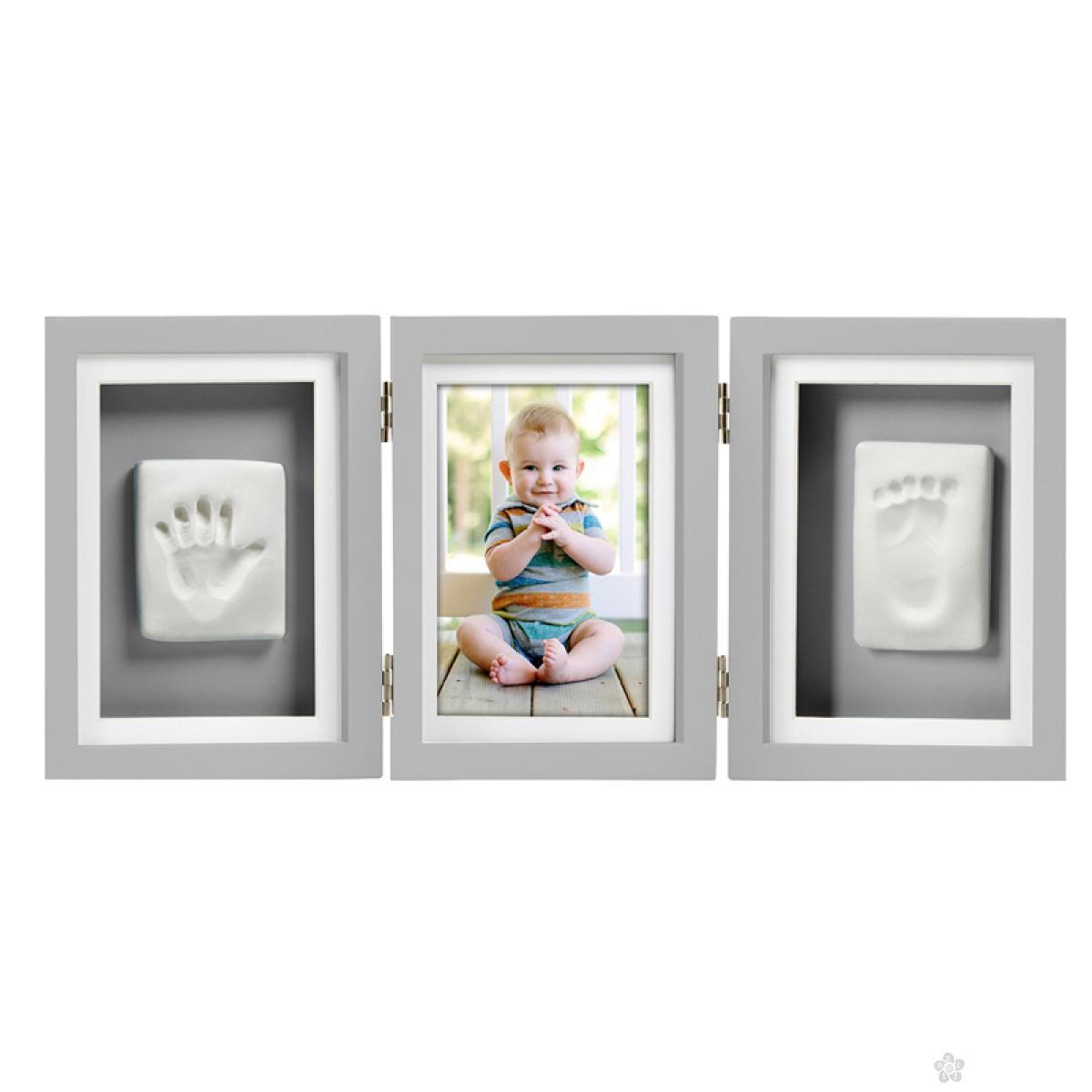 Babyprints Deluxe stoni ram sa otiskom - sivi P63007